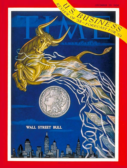 1958-12 Wall Street Bull Copyright Time Magazine | Time Magazine Covers 1923-1970