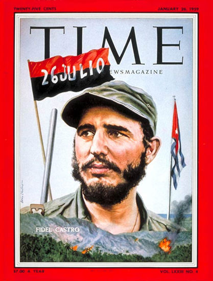 1959-01 Fidel Castro Copyright Time Magazine | Time Magazine Covers 1923-1970