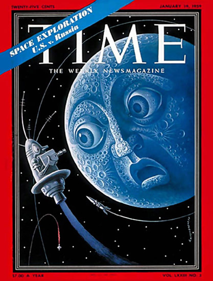 1959-01 Space Exploration Copyright Time Magazine | Time Magazine Covers 1923-1970