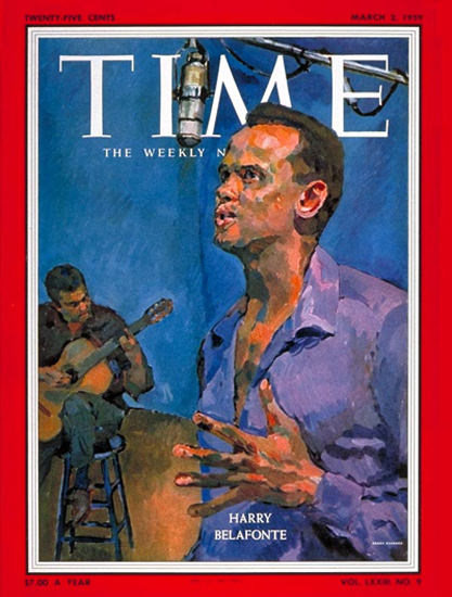 1959-03 Harry Belafonte Copyright Time Magazine | Time Magazine Covers 1923-1970