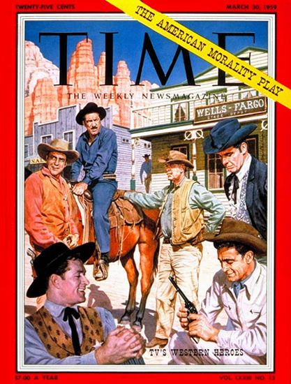 1959-03 TVs Western Heroes Copyright Time Magazine | Time Magazine Covers 1923-1970