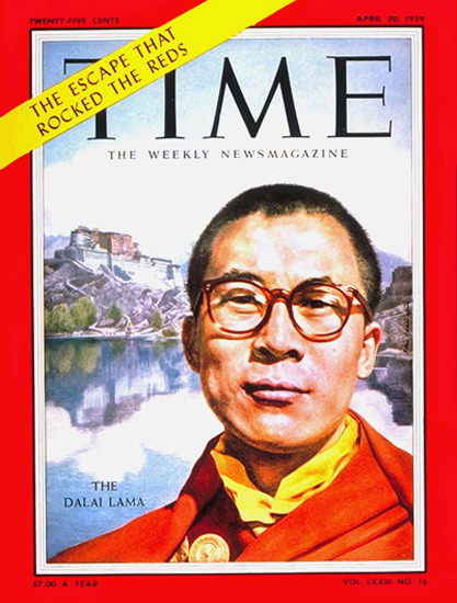 1959-04 The Dalai Lama Copyright Time Magazine | Time Magazine Covers 1923-1970