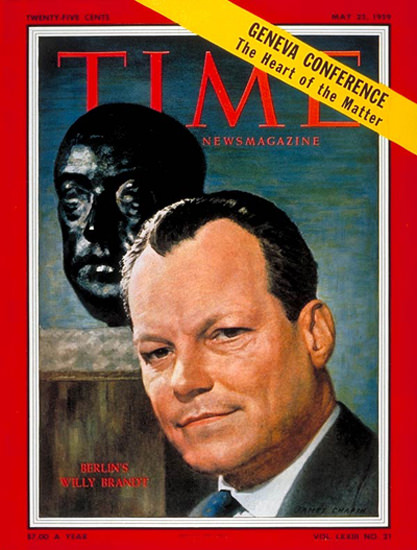 1959-05 Willy Brandt Germany Copyright Time Magazine | Time Magazine Covers 1923-1970