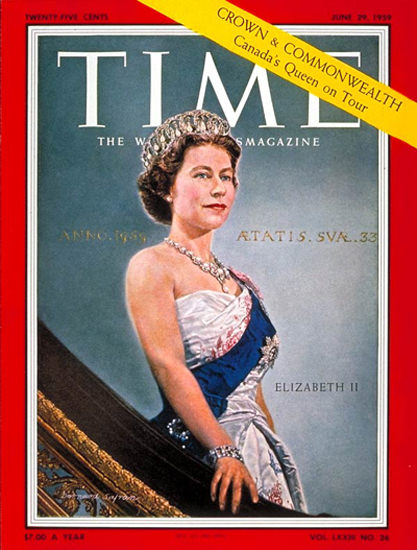 1959-06 Queen Elizabeth II Copyright Time Magazine | Time Magazine Covers 1923-1970