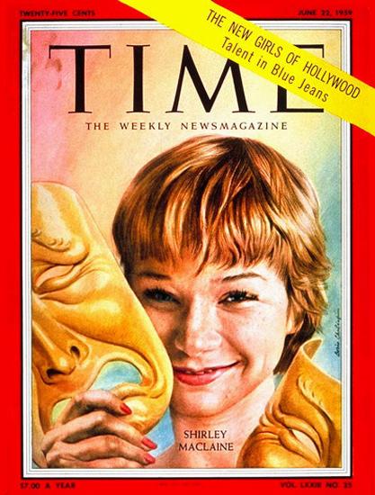 1959-06 Shirley MacLane Copyright Time Magazine | Time Magazine Covers 1923-1970
