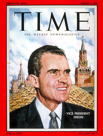 1959-08 Richard Nixon Copyright Time Magazine | Time Magazine Covers 1923-1970