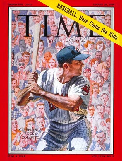 1959-08 Rocky Colavito Baseball Copyright Time Magazine | Time Magazine Covers 1923-1970
