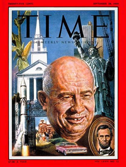 1959-09 Nikita Khrushchev USSR Copyright Time Magazine | Time Magazine Covers 1923-1970