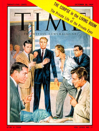 1959-10 TVs Private Eyes Copyright Time Magazine | Time Magazine Covers 1923-1970