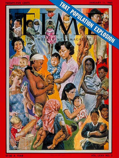 1960-01 Population Explosion Copyright Time Magazine | Time Magazine Covers 1923-1970