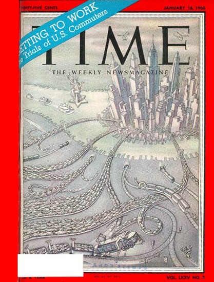 1960-01 US Commuters Copyright Time Magazine | Time Magazine Covers 1923-1970