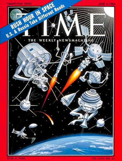 1960-06 US Satellites Copyright Time Magazine | Time Magazine Covers 1923-1970