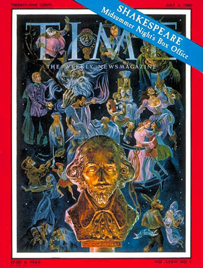 1960-07 William Shakespeare Copyright Time Magazine | Time Magazine Covers 1923-1970