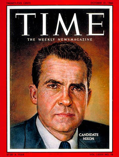 1960-10 Richard Nixon Copyright Time Magazine | Time Magazine Covers 1923-1970