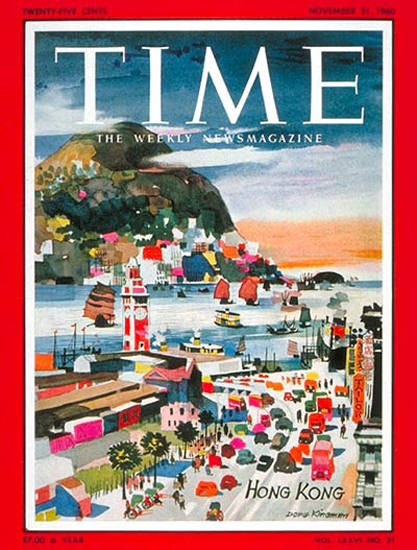 1960-11 Hong Kong Copyright Time Magazine | Time Magazine Covers 1923-1970