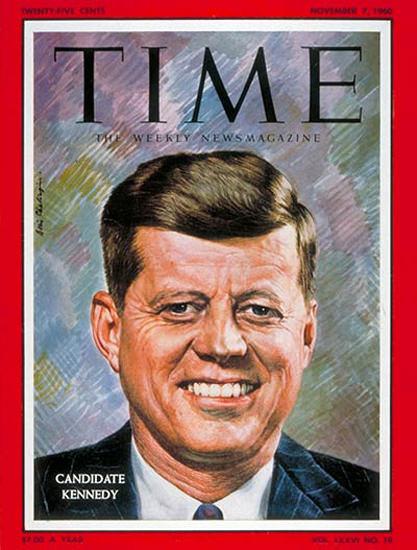 1960-11 John F Kennedy 1 Copyright Time Magazine | Time Magazine Covers 1923-1970