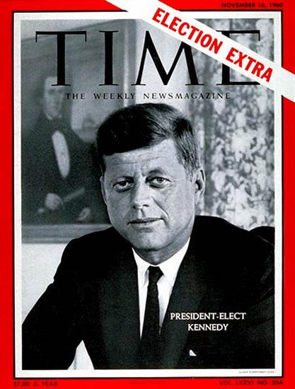 1960-11 John F Kennedy 2 Copyright Time Magazine   Time Magazine Covers 1923-1970