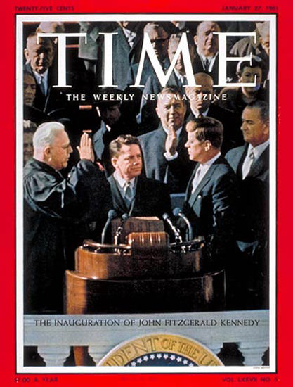 1961-01 Kennedy Inauguration Copyright Time Magazine | Time Magazine Covers 1923-1970