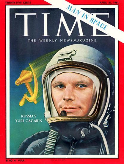 1961-04 Yuri Gagarin USSR Copyright Time Magazine | Time Magazine Covers 1923-1970