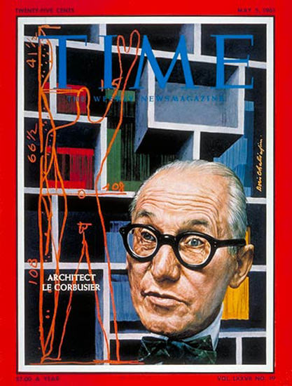1961-05 Le Corbusier Copyright Time Magazine | Time Magazine Covers 1923-1970