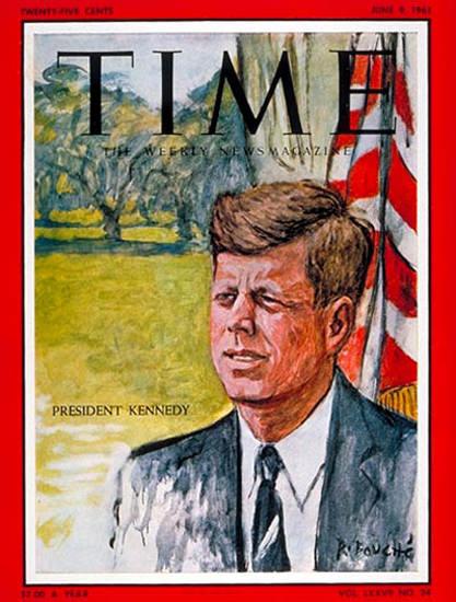 1961-06 John F Kennedy Copyright Time Magazine | Time Magazine Covers 1923-1970