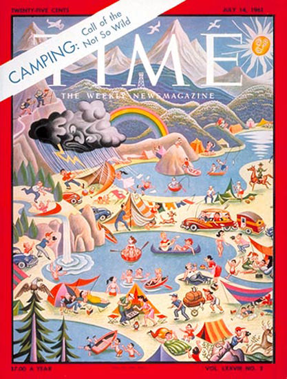 1961-07 Call of the Not So Wild Copyright Time Magazine | Time Magazine Covers 1923-1970