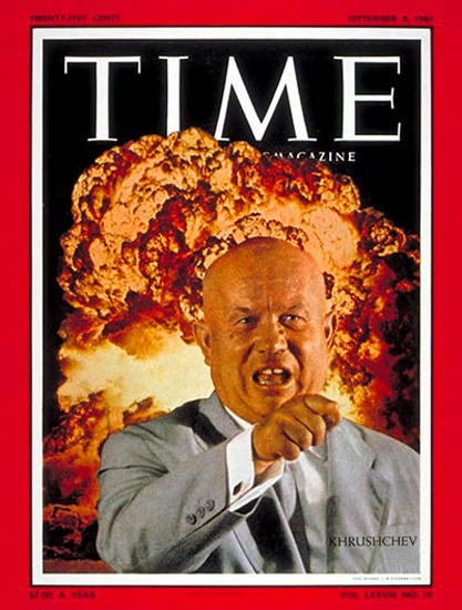 1961-09 Nikita Khrushchev Copyright Time Magazine | Time Magazine Covers 1923-1970