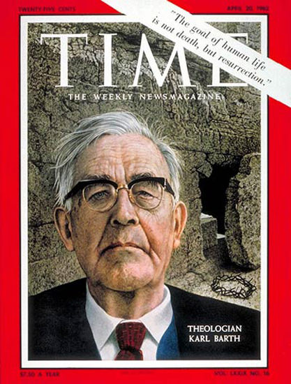 1962-04 Karl Barth Copyright Time Magazine | Time Magazine Covers 1923-1970