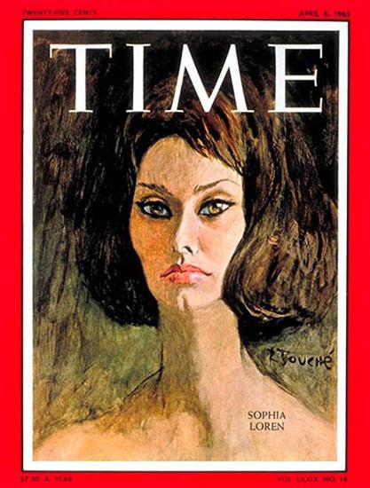 1962-04 Sophia Loren Copyright Time Magazine | Time Magazine Covers 1923-1970