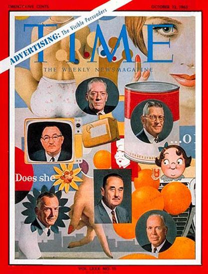 1962-10 US Advertising Executives Copyright Time Magazine | Time Magazine Covers 1923-1970