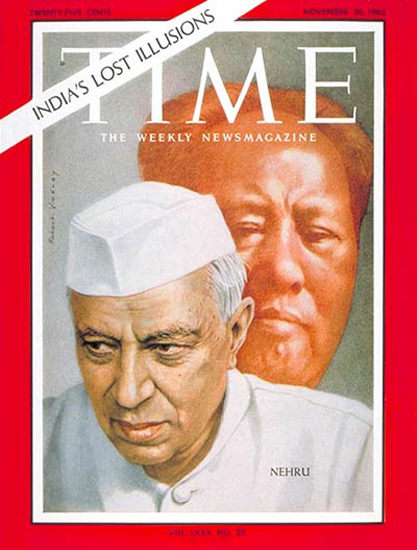 1962-11 Jawaharlal Nehru Copyright Time Magazine   Time Magazine Covers 1923-1970