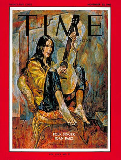 1962-11 Joan Baez Copyright Time Magazine | Time Magazine Covers 1923-1970