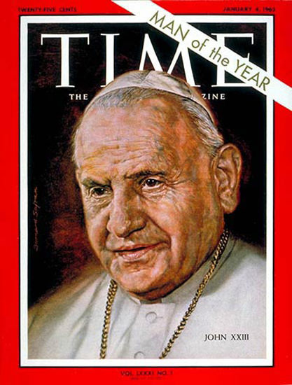 1963-01 Pope John XXIII Copyright Time Magazine | Time Magazine Covers 1923-1970