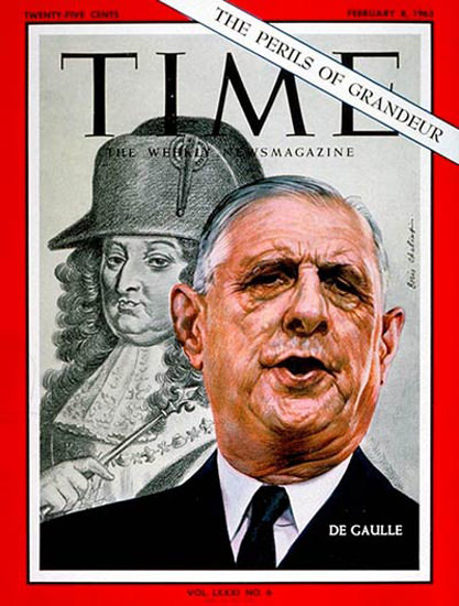 1963-02 Charles DeGaulle France Copyright Time Magazine | Time Magazine Covers 1923-1970