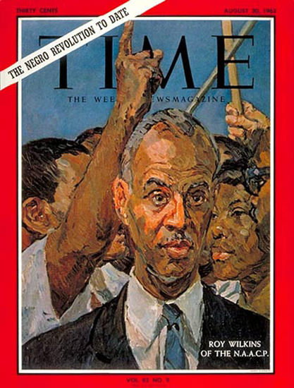 1963-08 Roy Wilkins Copyright Time Magazine | Time Magazine Covers 1923-1970