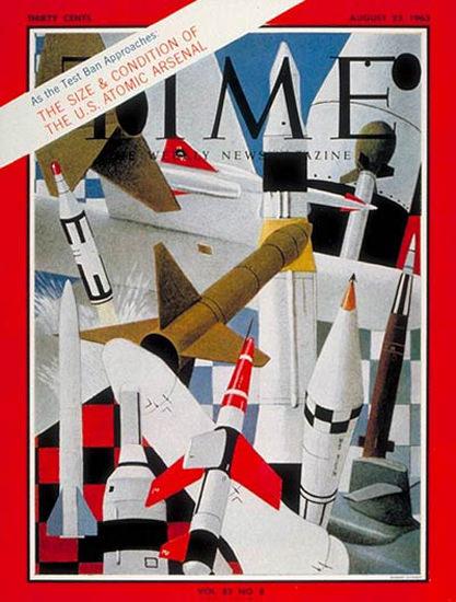 1963-08 US Atomic Arsenal Copyright Time Magazine | Time Magazine Covers 1923-1970