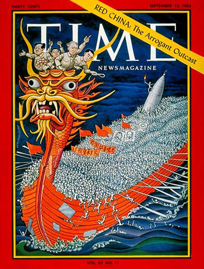 1963-09 Red China Copyright Time Magazine | Time Magazine Covers 1923-1970