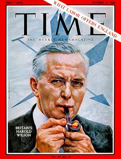 1963-10 Harold Wilson Copyright Time Magazine | Time Magazine Covers 1923-1970