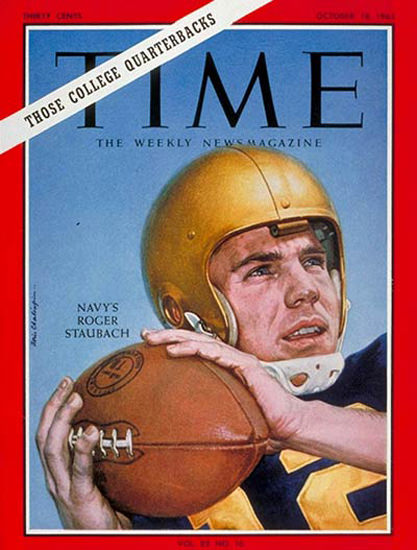 1963-10 Roger Staubach Football Copyright Time Magazine | Time Magazine Covers 1923-1970