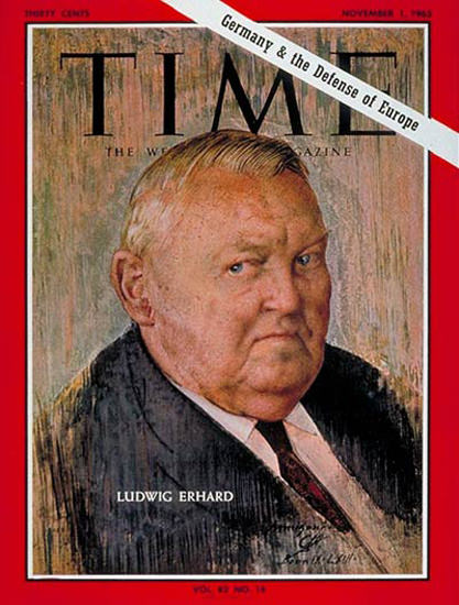 1963-11 Ludwig Erhard Copyright Time Magazine | Time Magazine Covers 1923-1970