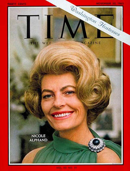 1963-11 Nicole Alphand Copyright Time Magazine | Time Magazine Covers 1923-1970