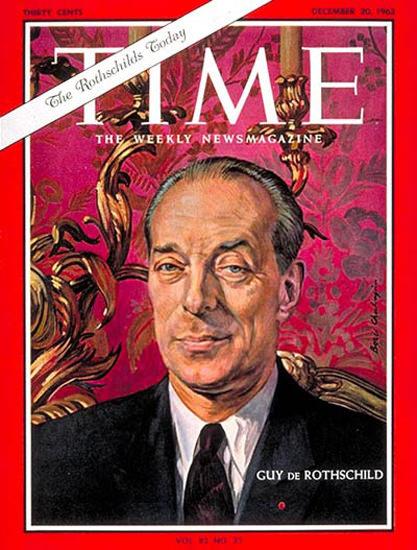 1963-12 Guy de Rothschild Copyright Time Magazine | Time Magazine Covers 1923-1970