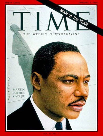 1964-01 Martin Luther King Jr Copyright Time Magazine | Time Magazine Covers 1923-1970