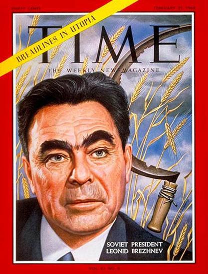 1964-02 Leonid I Brezhnev Copyright Time Magazine | Time Magazine Covers 1923-1970