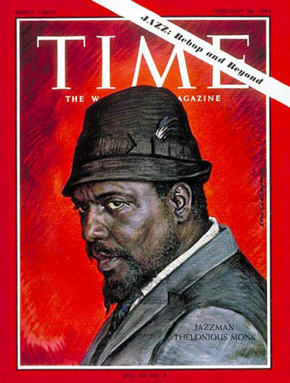 1964-02 Thelonious Monk Copyright Time Magazine | Time Magazine Covers 1923-1970