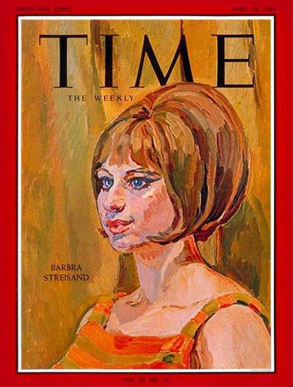 1964-04 Barbra Streisand Copyright Time Magazine | Time Magazine Covers 1923-1970
