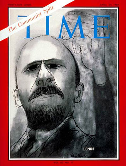 1964-04 Vladimir I Lenin Copyright Time Magazine | Time Magazine Covers 1923-1970