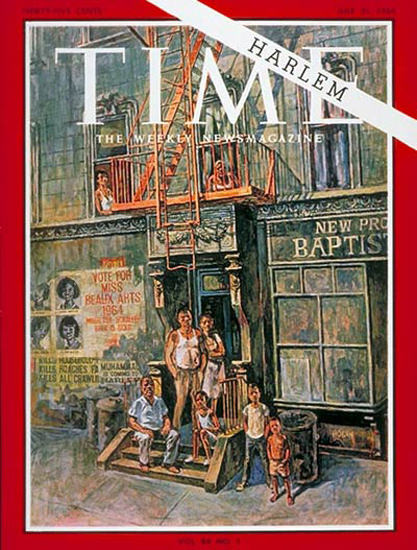 1964-07 Harlem Copyright Time Magazine | Time Magazine Covers 1923-1970