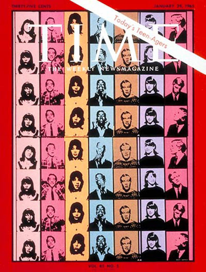 1965-01 Todays Teenagers Copyright Time Magazine | Time Magazine Covers 1923-1970