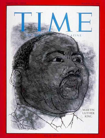 1965-03 Martin Luther King Copyright Time Magazine | Time Magazine Covers 1923-1970